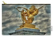 Statue On Pont Alexandre IIi Carry-all Pouch