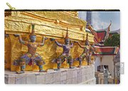 Statues At A Temple, Wat Phra Kaeo Carry-all Pouch