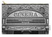 Steam Boat Willie Signage Main Street Disneyland Bw Carry-all Pouch