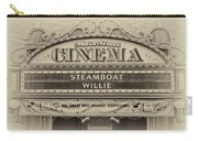 Steam Boat Willie Signage Main Street Disneyland Heirloom Carry-all Pouch