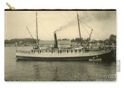Steamer Eureka At Old Whaf Santa Cruz California Circa 1907 Carry-all Pouch