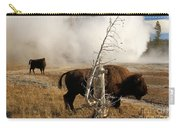 Steaming Bison Carry-all Pouch