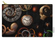 Steampunk - Abstract - The Beginning And End Carry-all Pouch by Mike Savad
