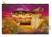 Steampunk - Blimp - Everlasting Wonder Carry-all Pouch by Mike Savad