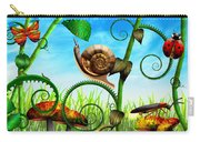 Steampunk - Bugs - Evolution Take Time Carry-all Pouch by Mike Savad
