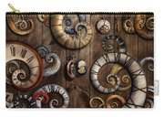 Steampunk - Clock - Time Machine Carry-all Pouch by Mike Savad