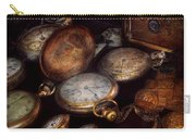 Steampunk - Clock - Time Worn Carry-all Pouch by Mike Savad