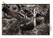 Steampunk Land Boring Machine At Disneysea Black And White Carry-all Pouch