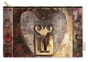 Steampunk - Locksmith - The Key To My Heart Carry-all Pouch by Mike Savad