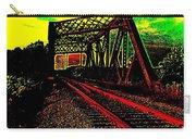 Steampunk Railroad Truss Bridge Carry-all Pouch