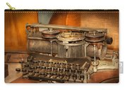 Steampunk - The History Of Typing Carry-all Pouch by Mike Savad