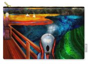 Steampunk - The Scream Carry-all Pouch by Mike Savad