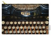 Steampunk - Typewriter -the Royal Carry-all Pouch by Paul Ward