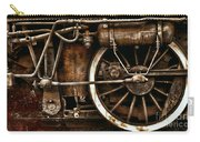 Steampunk- Wheels Of Vintage Steam Train Carry-all Pouch