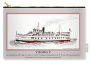 Steamship Virginia V Launch Poster Carry-all Pouch
