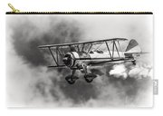 Stearman Biplane Black And White Carry-all Pouch