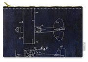 1929 Stearman Patent Drawing Blue Carry-all Pouch