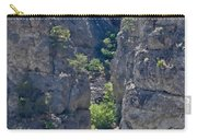 Steep Cliffs With Railroad Track Art Prints Carry-all Pouch