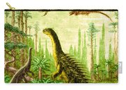 Stegosaurus And Compsognathus Dinosaurs Carry-all Pouch