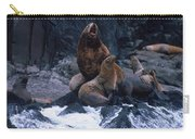 Stellar Sea Lions On The Rocks Carry-all Pouch