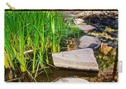 Stepping Stones Across Creek On Lower Palm Canyon Trail In Indian Canyons Near Palm Springs-ca Carry-all Pouch