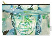 Stevie Ray Vaughan- Watercolor Portrait Carry-all Pouch