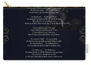 Stevie Wonder Gold Scrolled Called To Say I Love You Carry-all Pouch