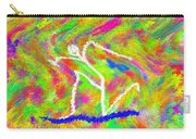 Stickman  Surfing  The  Colors Carry-all Pouch