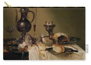 Still Life, 1642 Oil On Canvas Carry-all Pouch