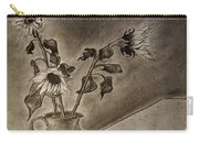Still Life Ceramic Pitcher With Three Sunflowers Carry-all Pouch by Jose A Gonzalez Jr
