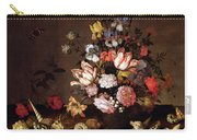 Still Life Of A Vase Of Flowers Carry-all Pouch