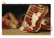 Still Life Of Sheep's Ribs And Head Carry-all Pouch by Francisco Jose de Goya y Lucientes