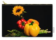 Still Life Peppers Asparagus Sunflower Carry-all Pouch