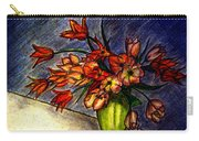 Still Life Vase With 21 Orange Tulips Carry-all Pouch