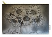 Still Life - Vase With 6 Sunflowers Carry-all Pouch