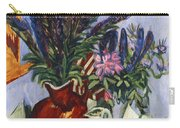 Still Life With A Vase Of Flowers Carry-all Pouch by Ernst Ludwig Kirchner