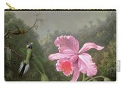 Still Life With An Orchid And A Pair Of Hummingbirds Carry-all Pouch by Martin Johnson Heade