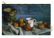 Still Life With Apples Cup And Pitcher Carry-all Pouch by Paul Cezanne