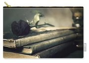 Still Life With Books And Roses Carry-all Pouch
