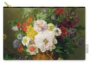 Still Life With Flowers And Fruit Carry-all Pouch by Anthony Obermann