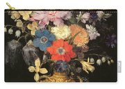 Still Life With Flowers, C.1604 Carry-all Pouch by Georg Flegel