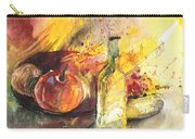 Still Life With Fruits And Flowers And Bottle Carry-all Pouch