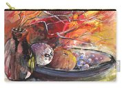 Still Life With Fruits And Vase And Dry Branches Carry-all Pouch