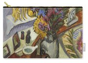 Still Life With Jug And African Bowl Carry-all Pouch by Ernst Ludwig Kirchner