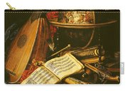 Still Life With Musical Instruments Oil On Canvas Carry-all Pouch