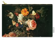 Still Life With Poppies And Roses Carry-all Pouch