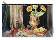 Still Life With Sunflowers Lemon Apples And Geranium  Carry-all Pouch