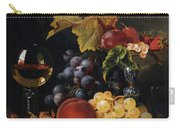 Still Life With Wine Glass And Silver Tazz Carry-all Pouch by Edward Ladell