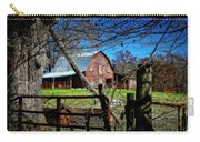 Still Useful Rustic Red Barn Art Oconee County Carry-all Pouch