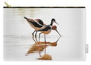 Stilt And Avocet Eat Together Carry-all Pouch